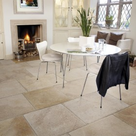 Perpignan Tumbled and Brushed Limestone
