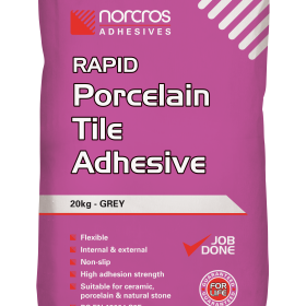 Grey Rapid Porcelain and Stone Adhesive