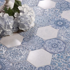 Kristobelle Ceramic Decorative Hexagon Tile