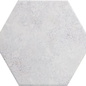 Stellar Light Blue Ceramic Hexagon Tile
