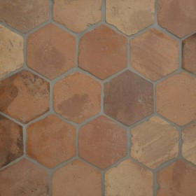 Reclaimed Antique Terracotta Hexagon Tiles