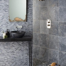 Atlantic Grey Pebble Mosaic