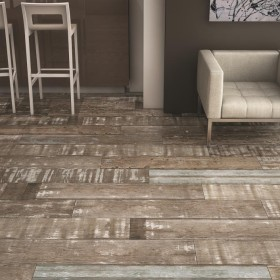 Painted Wood Grey Porcelain Tile