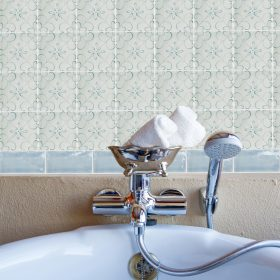Delphin Hand Painted Crackle Glaze Tile