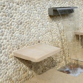 Beige Hawaii Pebble Mosaic