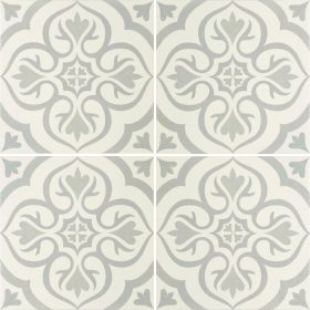 Knightshayes Light Grey On Chalk Ceramic Tile