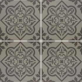 Pentillie Dark Grey On Grey Ceramic Tile