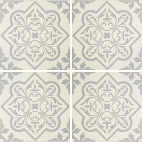 Pentillie Light Grey On Chalk Ceramic Tile
