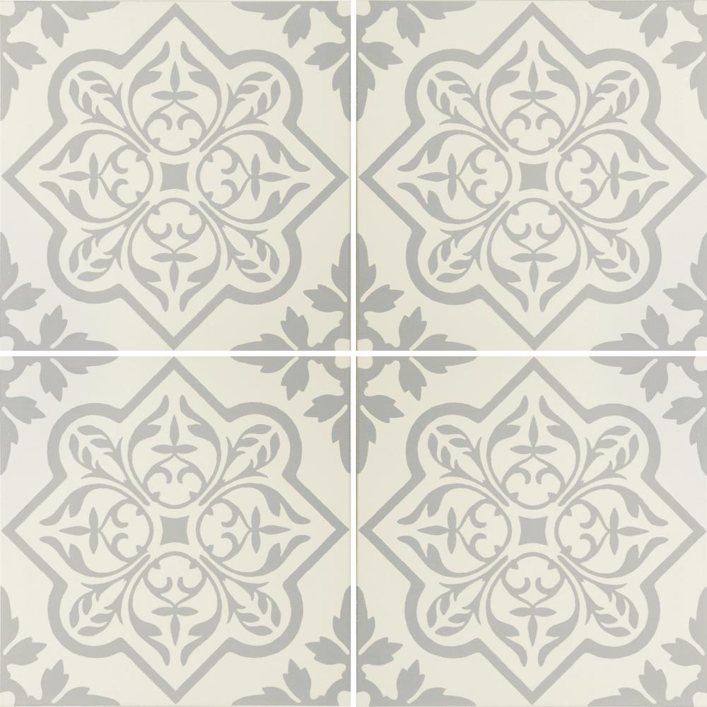 Pentillie Light Grey On Chalk Ceramic Internal Tile