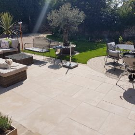 Tidal Blush Honed Tumbled and Brushed 30mm Limestone