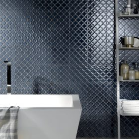 Arto Blu Notte Decorative Porcelain Tile