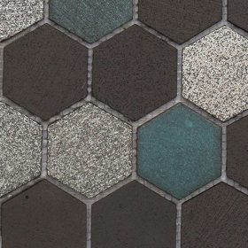 Avalon Lava Hexagon Mosaic