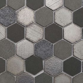 Silver Lava Hexagon Mosaic