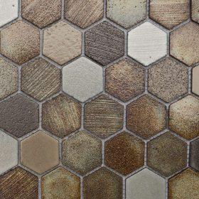 Tanzania Lava Hexagon Mosaic