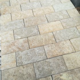 Conran Tumbled Half Honed and Brushed Limestone Setts